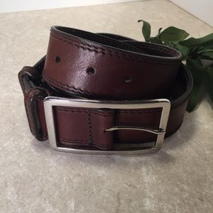 Banana republic dark brown Italian leather belt XS